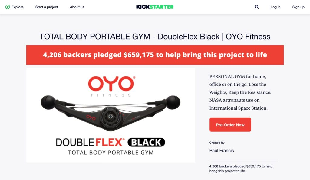 OYO Fitness Crushed it on Kickstarter