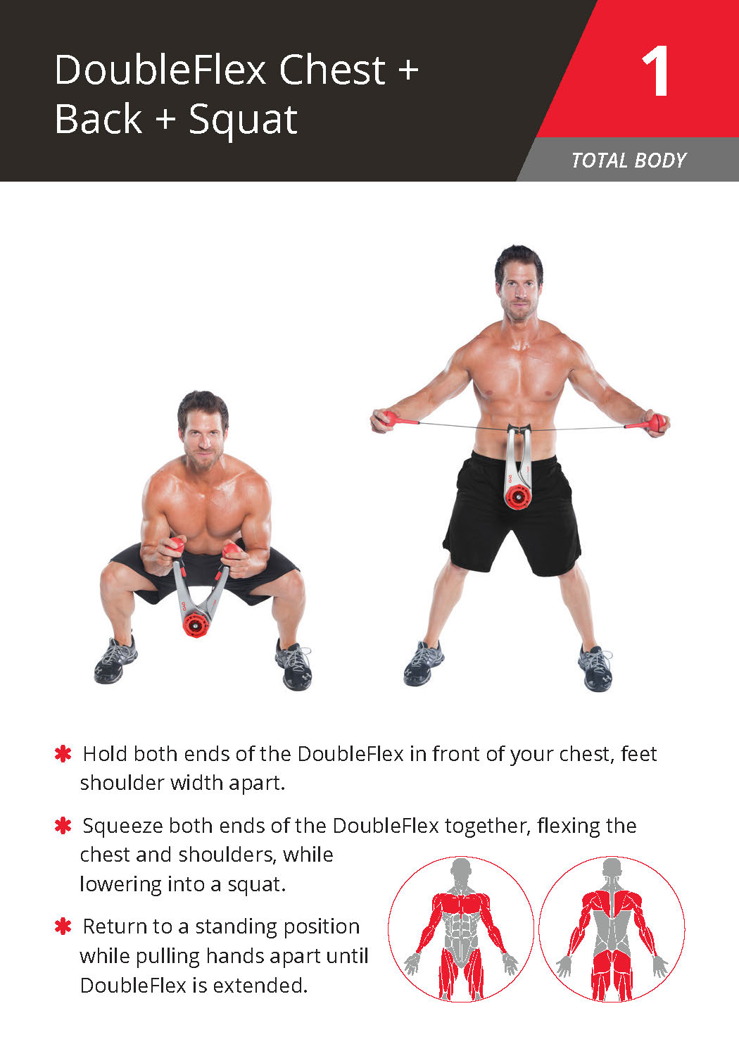 1 DoubleFlex Chest + Back + Squat