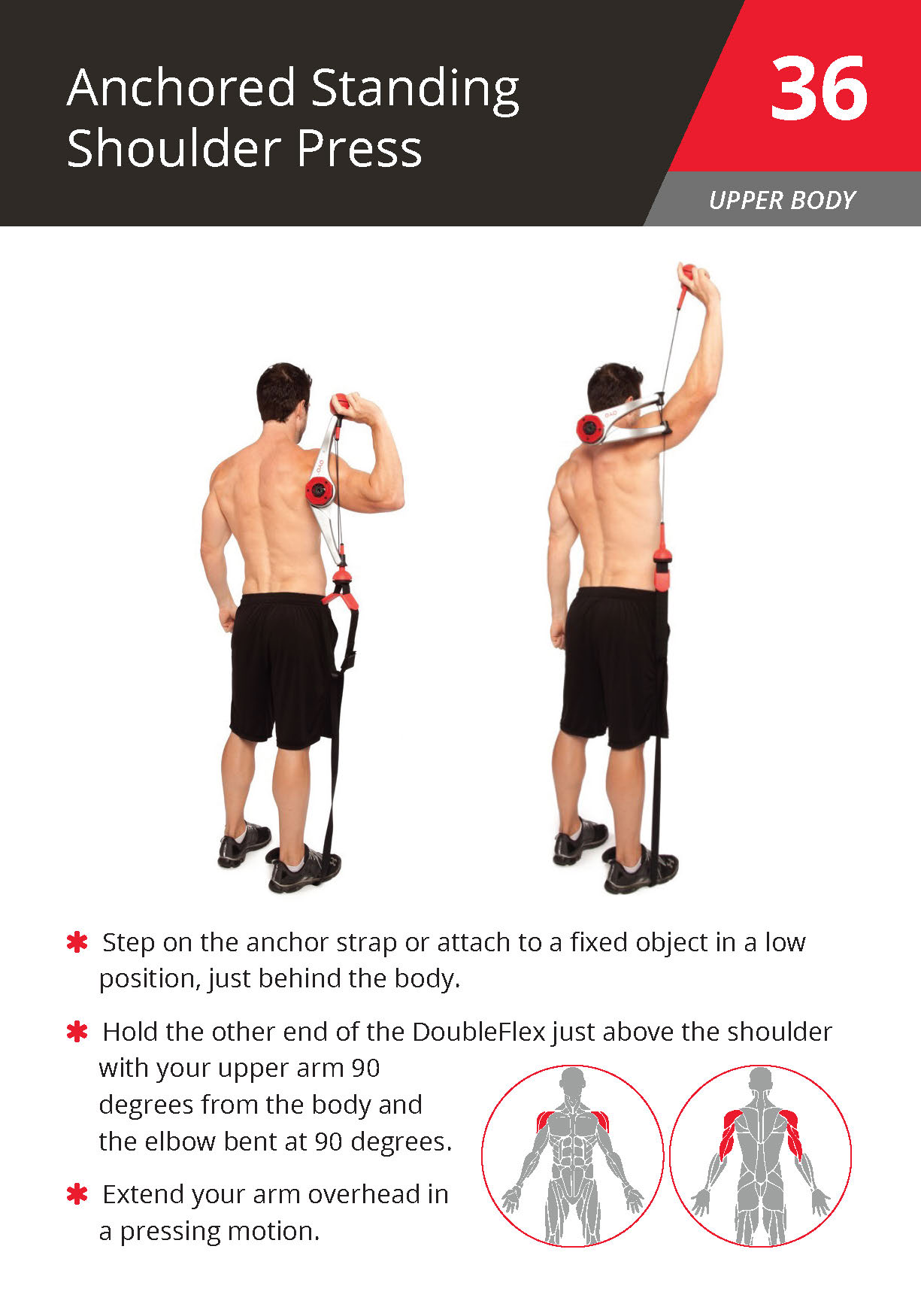 36 Anchored Standing Shoulder Press