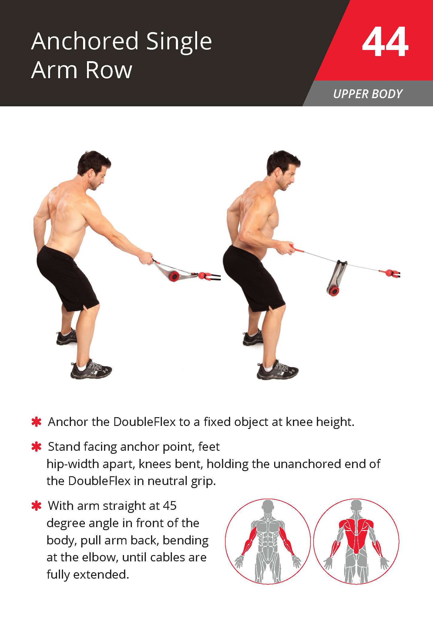 44 Anchored Single Arm Row