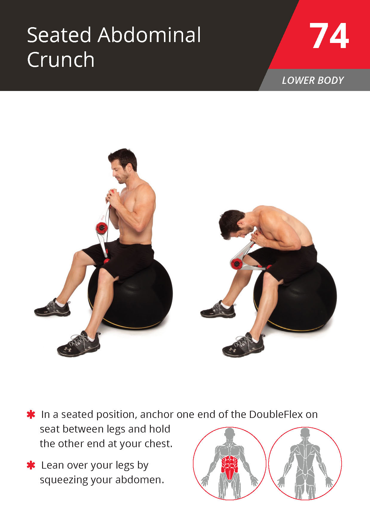 74 Seated Abdominal Crunch