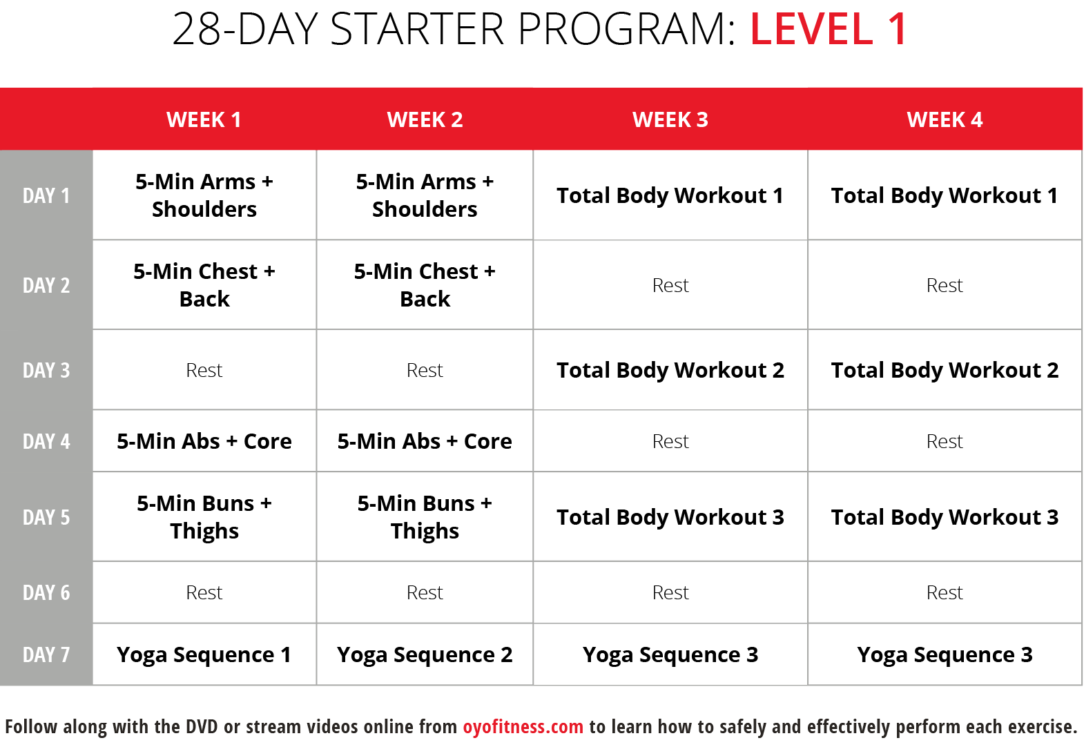 28-Day Program: Level 1
